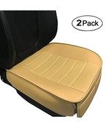 Car Seat Cushion, Edge Wrapping 2PC Car Interior PU Leather Car Seat (Be... - $49.77