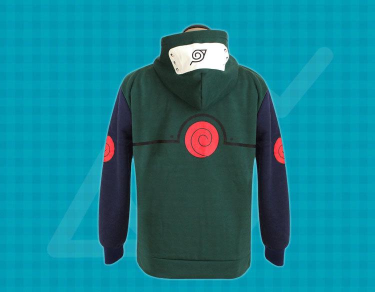 Naruto Konoha Ninja Hatake Kakashi Sweatshirt Cosplay Costume Hooded Coat