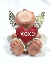 Kirk's Kritters Angel Cheeks Guardian Angel 2001 Heart With XOXO Valentine - $5.87