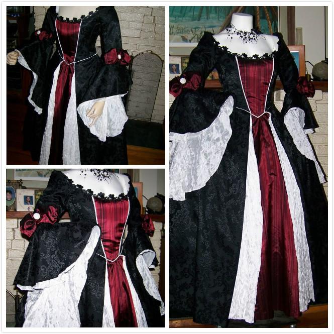 5.3 dracula gothic renaissance pirate gown dress costume vampire womens