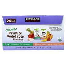 Kirkland Signature Organic Fruit and Veggie Pouch, 3.2 oz, - $18.32