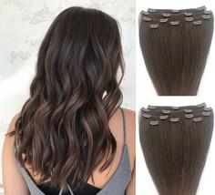"18"",20"",22"",24"" 100% REMY Human Hair Extensions 7Pc Clip in #3 Medium Dark Brown - $69.29+"