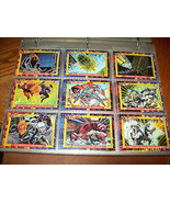 DC COMICS BLOODLINES TRADING CARDS COMPLETE 81 CARD SET & 2 EMBOSSED CAR... - $20.50