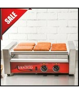 Avantco Commercial 18 Hot Dog Roller Grill with 7 Rollers, Non-Skid - 12... - $297.18