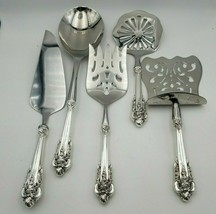 5-Piece Custom Made Grande Baroque Wallace Sterling Silver Brunch Servin... - $323.10