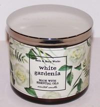 WONDERFUL BATH & BODY WORKS WHITE GARDENIA 3-WICK SCENTED 14.5 OZ CANDLE - $24.74