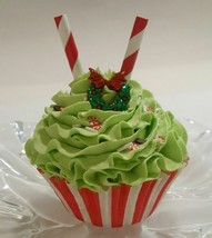 Grinch Holiday Cupcake Faux Cupcake - Decoration Prop - $5.93