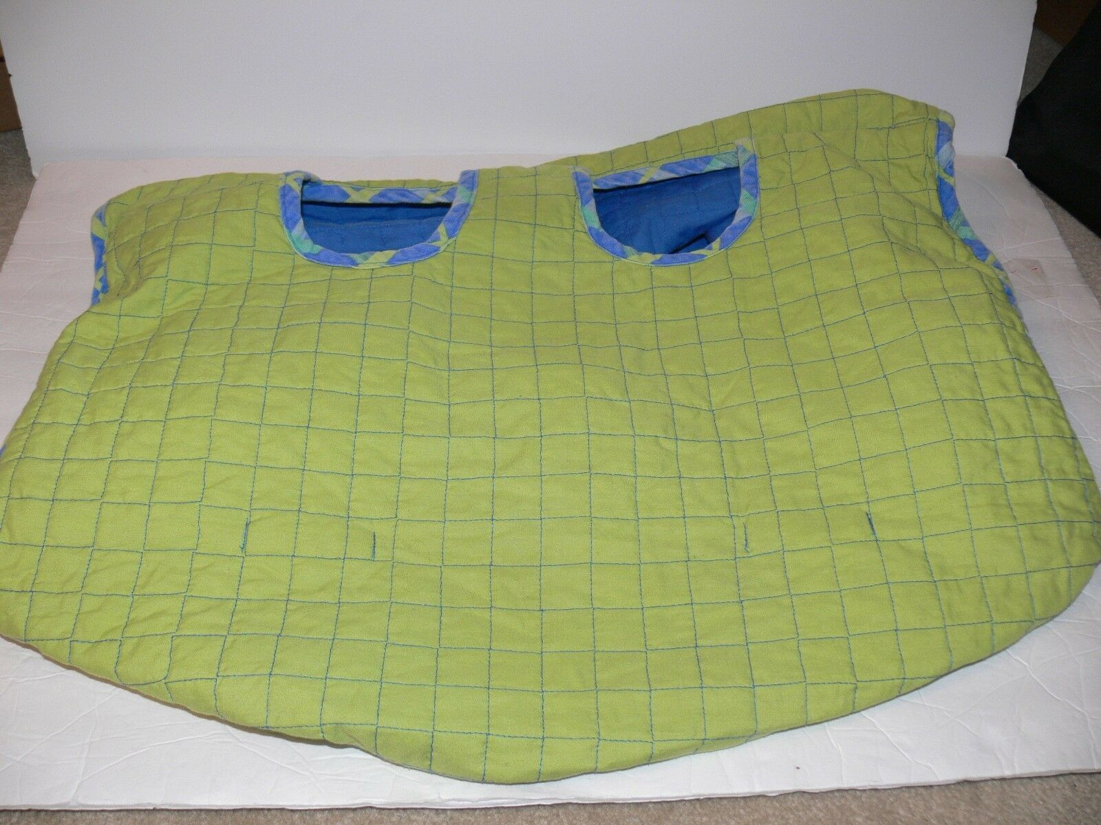 Primary image for Infant Baby Revisible shopping cart cover Blue & Green kh