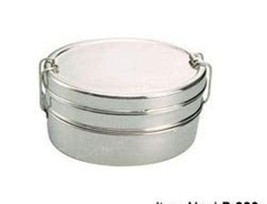 Beautiful Oval Shaped Stainless Steel 2 Tier Tiffin Lunch Box Best Quali... - €12,81 EUR