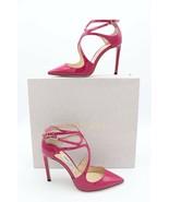 NIB Jimmy Choo Lancer 100 Pink Patent Pointy Toe Strappy Pump Heel 40 10... - $345.00