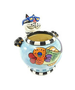 Clancy Cat Fish Bowl Candleholder SWAK Lynda Corneille Character Collect... - $21.50