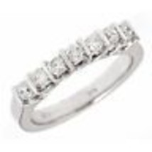 Womens 0.64ct Channel Set Diamond Wedding Anniverssary Band Ring 14k Whi... - €1.008,81 EUR