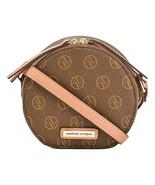 Adrienne Vittadini AV Signature Pebble Round Crossbody, Chocolate - $65.29