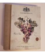WINE DIARY Journal Log Hardcover Louis Saint Pierre Pinot Noir Grapes Wi... - $9.99