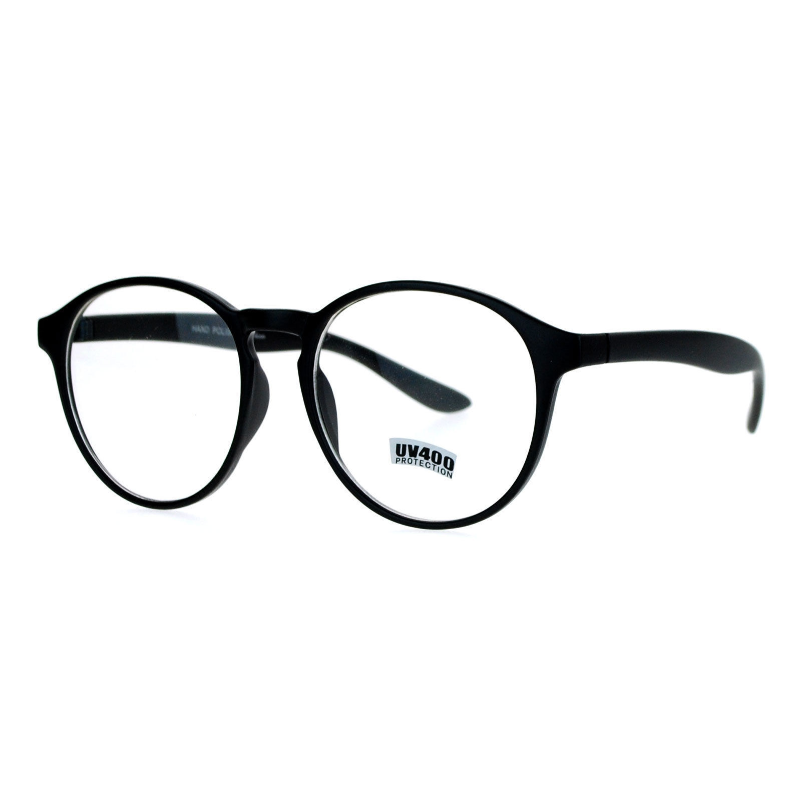 Clear Lens Eyeglasses Round Keyhole Fashion Glasses Frame UV 400