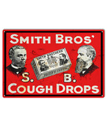 Smith Bros Cough Drops Reproduction Nostalgic Metal Sign 12x18 - $25.74