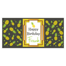 Pineapple Frame Happy Birthday Banner Personali... - $22.50