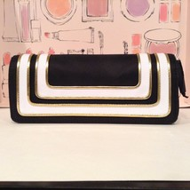 MAC MAKEUP BAG! Stroke of Midnight NAVY/WHITE/GOLD Flap Closure + TEN SA... - $14.85