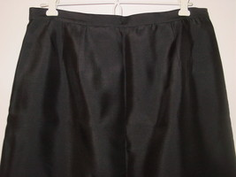Talbots black 100% silk long full length skirt lined party holiday sissy-12 - $27.84