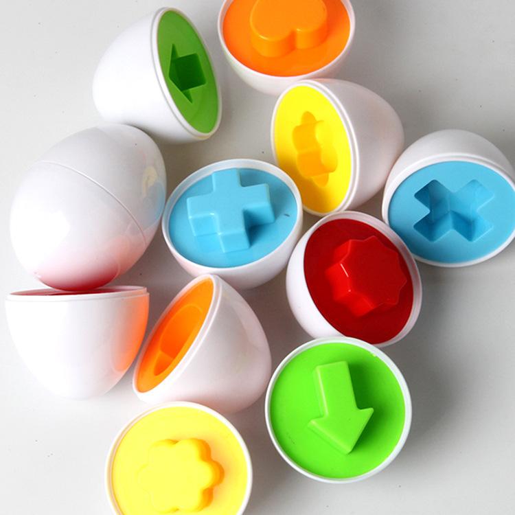 6pcs/set Children puzzle early education assembly simulation egg matching smart