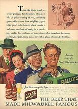 Voting Patriotic Schlitz Beer America Votes No Bitterness 1943 Ballot Bo... - $18.50