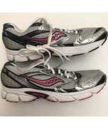 SAUCONY COHESION 5 Women's Running Shoes 15128-1 Silver Pink White Sz 9 - $16.83