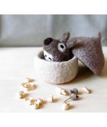 Felted acorn / Needle felted mouse / eco friendly toy / felt play set / ... - $45.00