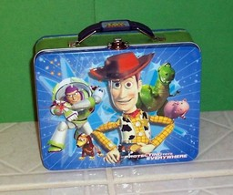 Disney TOY STORY Woody Buzz & More 3-D Tin Lunch Box Storage School Tote... - $6.89