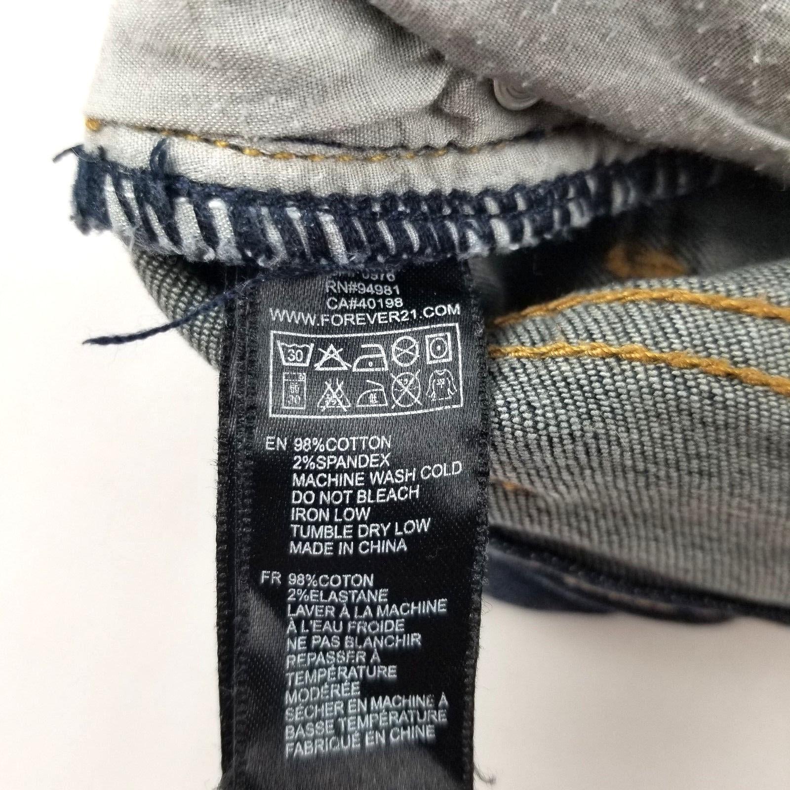 2.1 Denim Womens Jean Short Shorts Size 27 Flower Detail Distressed image 5