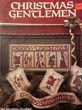 Christmas Gentlemen Leisure Arts Cross Stitch Pattern Leaflet 743** - $9.75