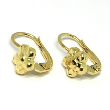 Pendientes Colgantes Oro Amarillo 750 18K,de Infantil,Flor Martillado,Ma... - $177.67
