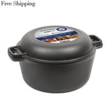 Westinghouse WFL508 Select Series Seasoned Cast Iron 5 Quart Dutch Oven ... - $50.63