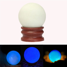 Luminous Pearl Glow In The Dark Stone Luminous Quartz Crystal Sphere Ball Night  - $9.98