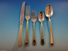 Golden Winslow by Kirk Sterling Silver Flatware Service For 8 Set 48 Pieces - $3,250.00