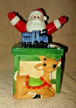 VNTG LENOX RUDOLPH COLLECTION COVERED CANDY DISH NO BOX SANTA WORKSHOP T... - $32.99