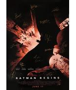 BATMAN BEGINS SIGNED MOVIE POSTER - $180.00