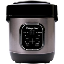 Magic Chef 3-cup Stainless Steel Rice Cooker MCPMCSRC03ST - $43.46