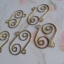 80Pcs Swirl Shaped Metal Hook Hanger Crystal Prisms Chandelier Gold Connector - $11.18