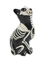 Day of the Dead Cat Meowing Muertos Cat Sugar Skull Cat Halloween Day of... - $16.82