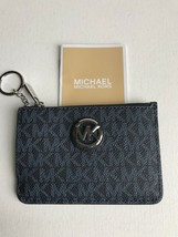 New Michael Kors Fulton Small PVC Admiral Top Zip Coinpouch with Key Ring - $44.99