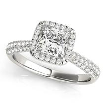 14k White Gold Halo Pave Band Diamond Engagement Ring (1 1/3 cttw) - $5,648.07