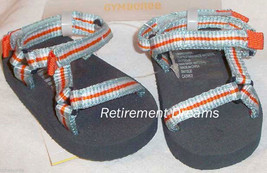 GYMBOREE 02 Sandals Crib Shoes size 2 NEW AT THE BEACH Blue Orange White - $8.00