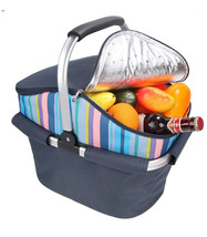 YODO 25L Portable Folded Cooler Bag Large Insulated Basket Picnic Food D... - $427,64 MXN