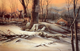 Animal illustration Art oil painting printed on canvas home decorBackwoo... - $12.99