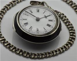 Georgian Doctor's Skull Memento Mori Verge Fusee silver&enamel watch by ... - $7,900.00