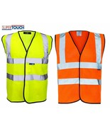 Hi Vis Viz Visibility Vest Security Work Contractor Jacket Waistcoat NEW - $4.47+