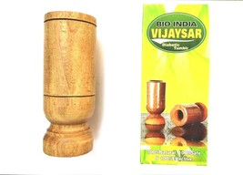 vijaysar diabetic Herbal Tumbler heavy Wood glass bija indian kino tree ... - $16.95