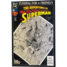 The Adventures of Superman #498 4th Print DC Universe Logo - $19.99