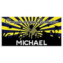 Maize And Blue Graduation Banner Personalized Class of 2018 Party Backdrop - £17.34 GBP