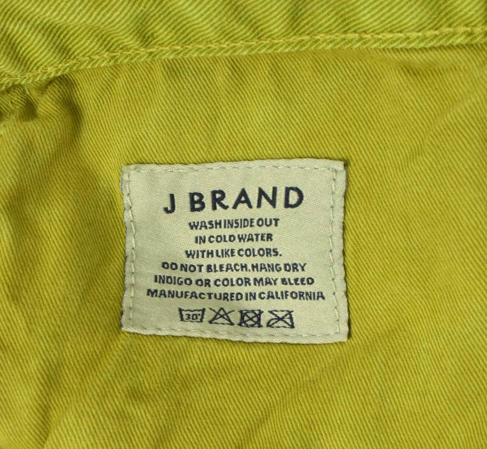 J Brand Green Denim Button Fly Jeans Pants Boot Cut Womens Size 32 x 32.5 image 8
